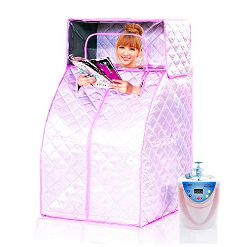 Hixgb sauna portatile,tenda piegante di sauna della stazione termale di fumigazione della famiglia con la sedia piegante,bagno per la perdita di peso totale, terapia sana disintossicante una persona