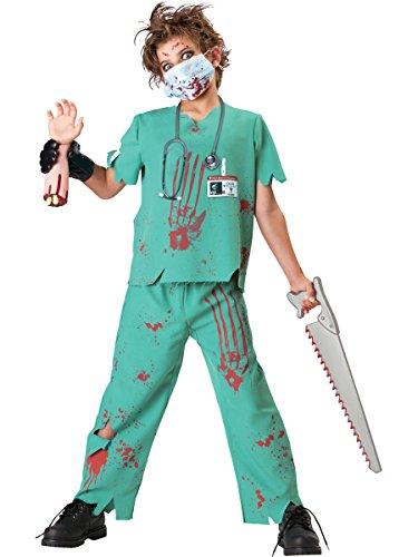 InCharacter Costumes, LLC Boys 8-20 Dr. N. Sane Shirt and Pant Set, Turqoise, Large (Incharacter Kostüme Llc)