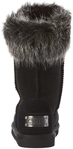 Australia Luxe Collective Foxy Short, Bottines femme Schwarz (Black Faux Fur)