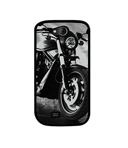 Casotec Cool Bike Design Canvas Printed Soft TPU Back Case Cover for Micromax Canvas Elanza A93  available at amazon for Rs.349