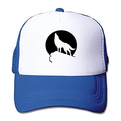 Osmykqe Howling Wolf Mn Unisex Mütze Baseballmütze Stil Gitter Hut Einstellbare Trucker Cap 03VV9221