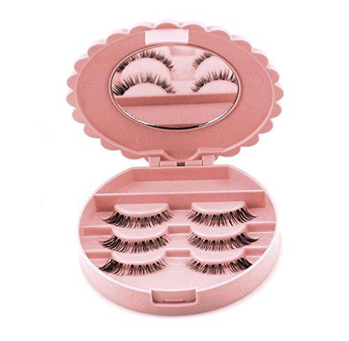 Covermason Künstliche Wimpern Falsche Wimpern Aufbewahrungsbox Hülle Box Mit Kosmetikspiegel