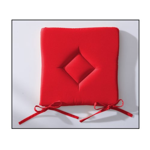 Today 261302cuscino classico poliestere 40x 40cm, poliestere, pomme d'amour/rouge, 40x40x3 cm