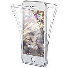 0f02b1fb8cc NALIA Funda 360 Grados Compatible con iPhone 8/7, Delantera Trasera  Protectora Movil Silicona