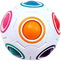 KidsPark Magic Ball Regenbogen Ball Zauberwürfel 3D Puzzle Ball Speed Cube Würfel Regenbogenball Toy