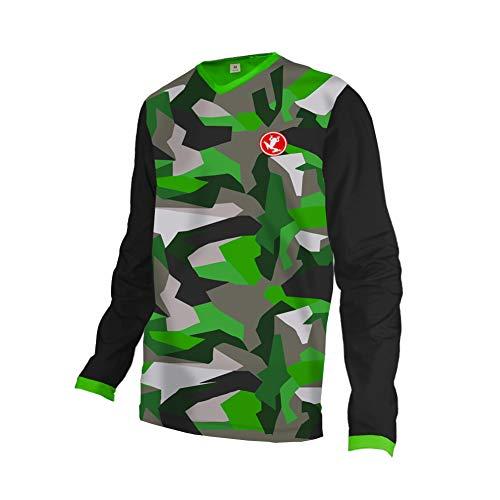 Uglyfrog Herren Downhill Jersey, MTB Männer T-Shirt, Mountainbike/Motocross Herren Langarm/Kurze Ärmel Fahrrad Trikot T Shirt Radtrikot Cycling Jersey für Radsport DEHerDownSW04 (Dragon Youth Tshirt)
