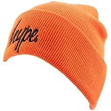 Bonnet à Revers Hype Script Orange et Noir - Mixte