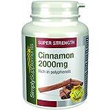 Cannelle (de Ceylan) 2000mg 120 Comprimés | Aide à maintenir un poids sain | Aide à réduire le taux de sucre dans le sang | Fabriqué au Royaume-Uni