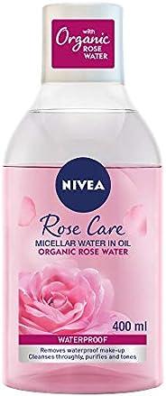 NIVEA Micellar Rose Water Makeup Remover, All Skin Types, 400ml