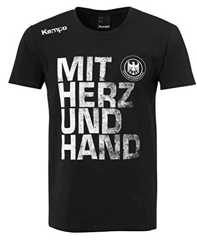 Kempa DHB Deutschland Handball T-Shirt Mit Herz und Hand schwarz schwarz, M