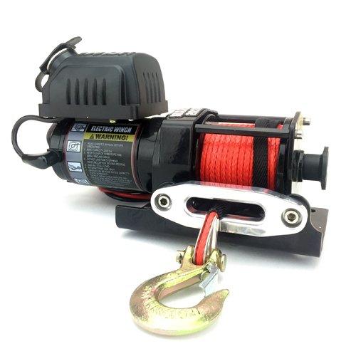 Preisvergleich Produktbild Warrior WW20SPA12 ATV / UTV Quad Elektrische Seilwinde Ninja 2000LB A 907 kg 12 V Kunststoffseil