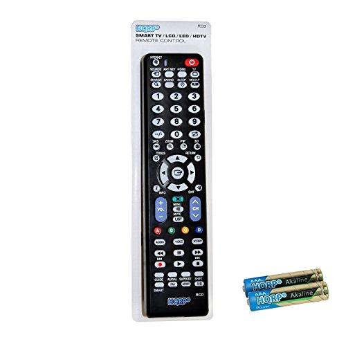 HQRP Universale Fernbedienung kompatibel mit Samsung LED-Fernseher UE40JU6450, UE48JU6450, UE50JU6450, UE55JU6450, UE60JU6450, UE65JU6450, UE75JU6450 Ultra HD, Smart TV