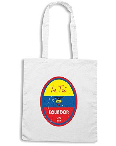 T-Shirtshock - Borsa Shopping WC0660 World Cup Football - Ecuador Bianco