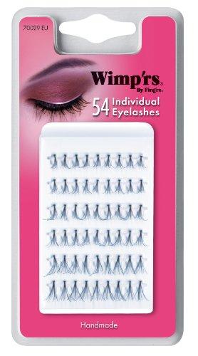 Fing'rs - 70029 - Maquillage des Yeux -1 Paire de Faux Cils Noirs Individuels en Cheveux Véritables