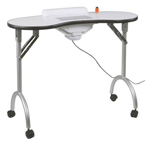 Table manucure pliante avec aspirateur, transportable avec housse