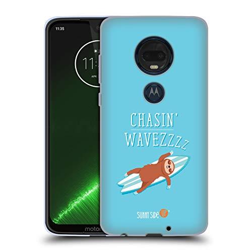 Head Case Designs Offizielle Muy Pop Faultier Sonnige Seite Hoch Tiere Soft Gel Hülle für Motorola Moto G7 Plus