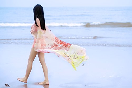 ... GoGou Strand Sarong Wrap Elegante Baum Lange Bikini Abdeckung Ups Salmon  ...