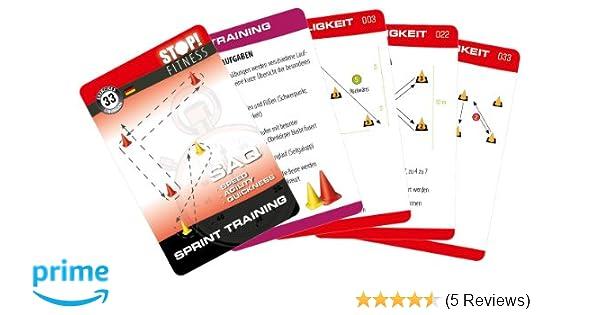 deutsche Version Trainingskarten /Übungskarten Stop Training der Koordination mit dem Balancekreisel Kartengr/ö/ße 66 x 100 mm mit Kunststoffbox Fitness