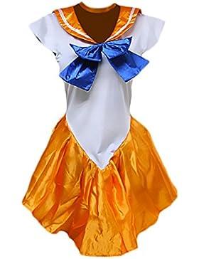 Sailor Moon Cosplay Costumi Carnevale Donna Vestiti Carnevale Manica Corta Corti Anime Costume Halloween Costumi...