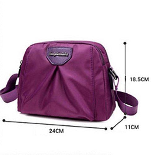 Ladies singola borsa a tracolla,borsa di tela,messenger bag-porpora Blu
