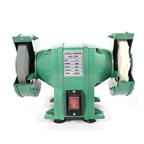 Amoladora esmeriladora de banco 200W con 1piedras y 1rueda de tela 3000RPM 220V