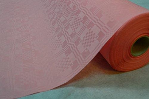 50 Meter Lang 100 Cm Breit Farbe: Rosa Tischdecke Papier Damastprägung Tischtuch Papierttischdecke...