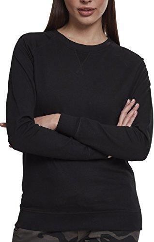 Urban Classics Damen Pullover Ladies Terry Raglan Crew, Schwarz (Black 00007), XXXXX-Large (Herstellergröße: 5XL) (Long Sleeve Terry Hoodie)