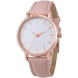WINWINTOM Leather Analog Quartz Wrist Watch Pink