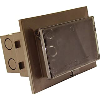 Arlington DBHB1BRC-1 Recessed Electrical Box for New Brick Construction, 1-Gang, Brown, 1-Pack by Arlington Industries