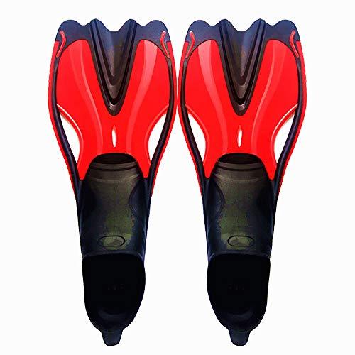 RJDJ Long Paragraph Diving Flossen Ultra Light Verhindern Rutschgefahr Schwimmen Selbstanpassendes Vollfußschnorcheln Geeignet für Erwachsene