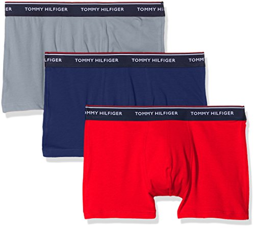 Tommy Hilfiger Herren Shorts 3p Trunk, 3er Pack, Mehrfarbig (Blue Depths/Tradewinds/Tomato 088), X-Large