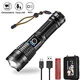 AUELEK Linterna LED, P50 Linterna LED Alta Potencia 5 Modos/ 1200 LM/Zoom / IPX6 Impermeable/...