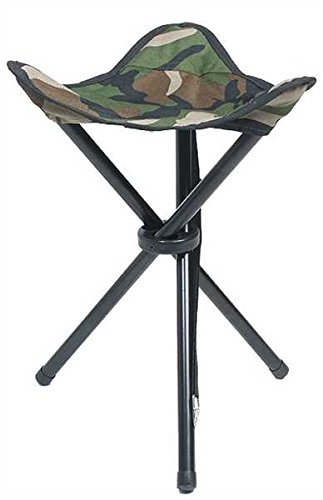 TREPIED PLIANT CAMO CAMOUFLAGE WOODLAND TABOURET 3 PIEDS CHAISE SIEGE CAMPING REPOS MILTEC 14450020...