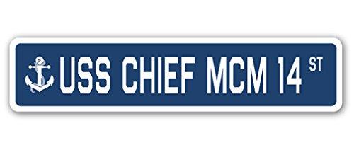 USS Chief MCM 14Street Sign US Navy Schiff Veteran Sailor Geschenk