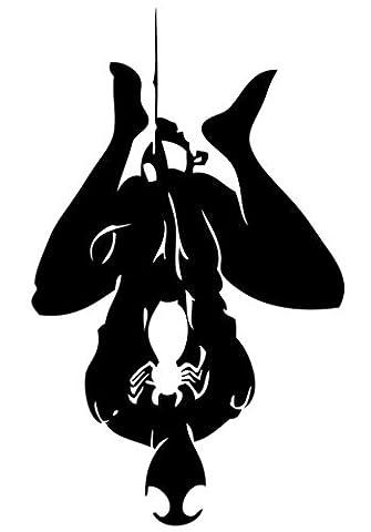 Dekorativer Vinyl-Aufkleber, Motiv Spiderman 1, Maße ca. 60x33cm,Schwarz (Avery Dennison Vinyl)