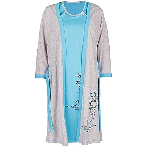 Happy Mama. Maternity Set Premamá camiso?n de lactancia bata jirafa diseño. 773p