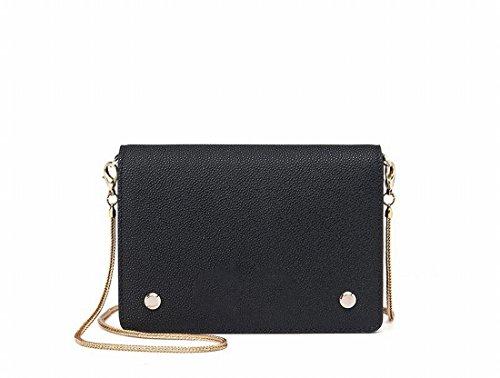 Kettenhandtasche Tasche Nette Kleine Quadratische Tasche Eine Schulter Messenger Tasche Hält Schwarz