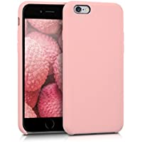 kwmobile Funda para Apple iPhone 6/6S - Case para móvil de TPU silicona - Cover trasero en rosa oro mate