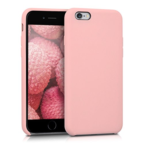 Kwmobile cover per apple iphone 6 / 6s - custodia in silicone tpu - back case protezione posteriore per cellulare oro rosa matt