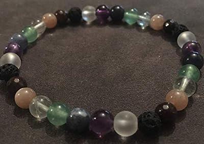 bracelet 7 Chakras Pierre Authentique Naturelle Semi-précieuse