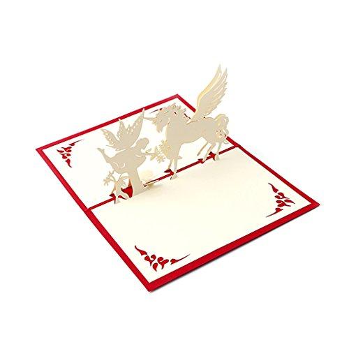 Kalttoy 3D Pop Up Glückwunschkarte handgefertigt Happy Birthday Merry Christmas Karte