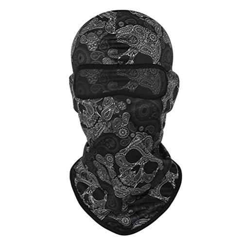 Sturmmaske Totenkopf Skull Maske 1 Stück Sturmmaske Ghost für Gamer Karneval Kostüm Halloween Motorrad Fahrrad (Baby Pille Kostüm)