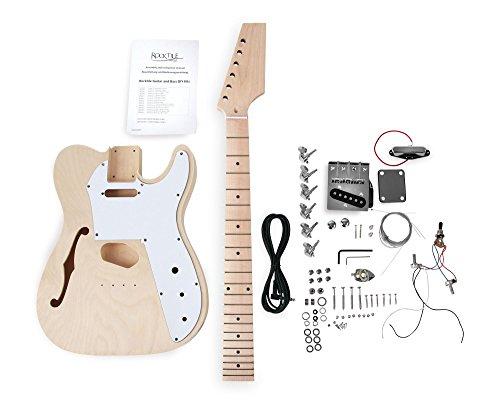 "Rocktile DIY Hollowbody TL Bausatz E-Gitarre (""Do-it-yourself"" E-Gitarre Bausatz Halbakustik TL-Style, Korpus: Linde, Hals: Ahorn geschraubt, Griffbrett: Ahorn)"