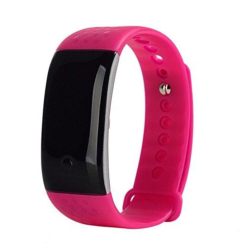 HRT® S1 Tasca di frequenza cardiaca e braccialetto di ossigeno del sangue Bluetooth Sport Fitness Tracker Smart Smart Wristband Monitor , red