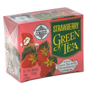 Mlesna Flavoured Green Tea, Strawberry, 100g