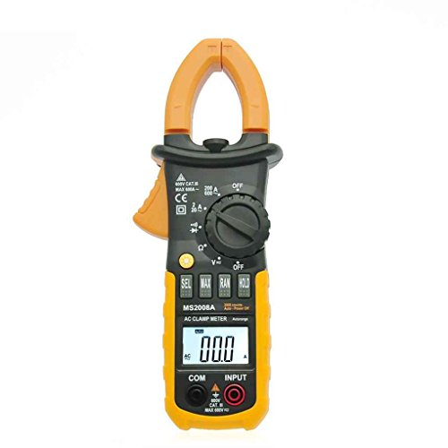 coconut Digitale Clamp Meter DC AC Volt AC Ampere Ohm Tester MS2008A 2000 Counts LCD (Widerstand Volt Amp)