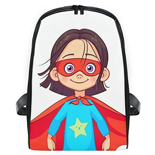 Muster Kostüm Brave - ELIENONO Brave Girl Superhero Kostüm Steht fest,Laptop Rucksack für Männer Schulrucksack Multifunktionsrucksack Mini Tagesrucksack für Schule Wandern Reisen Camping