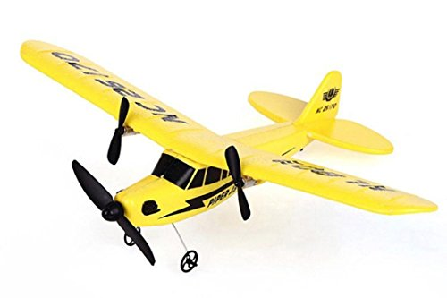 *Hunpta HL-803 RC Fernbedienung Hubschrauber Flugzeug Segelflugzeug Flugzeug EPP Schaum 2CH 2,4 G Spielzeug (Gelb)*