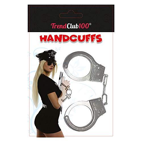 l Handschellen Spielzeug für Polizei Kostüme Mottoparty (Blister) ()