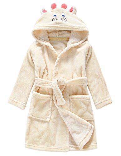 nder Kapuzen-Bademantel Jungen Mädchen Morgenmantel Tier Schlafanzug Flanell Nachthemd Nachtwäsche Größe 100 Giraffen (Giraffe Halloween-kostüm 3t)